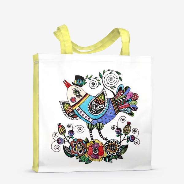Сумка-шоппер «Птица в голубом»