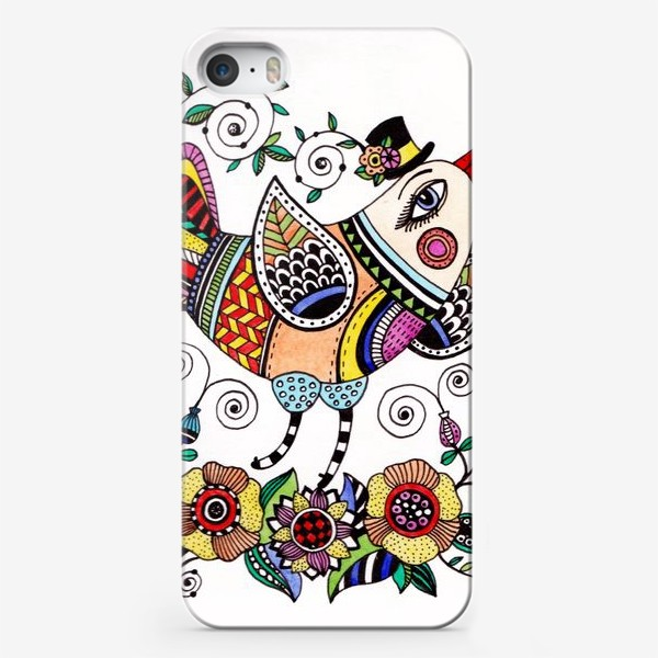 Чехол iPhone «Птица в любви»