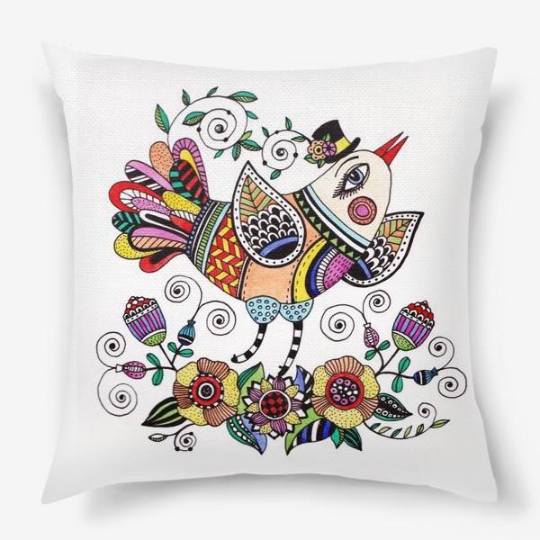 Подушка «Птица в любви»