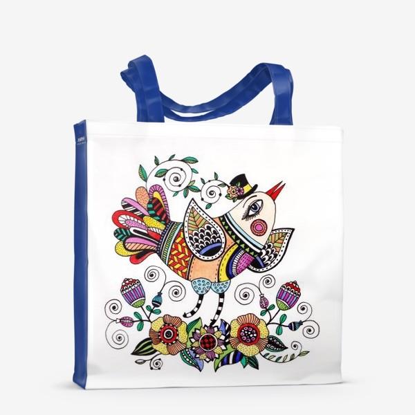 Сумка-шоппер «Птица в любви»