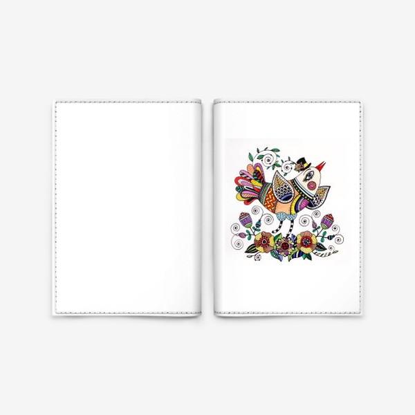 Обложка для паспорта «Птица в любви»