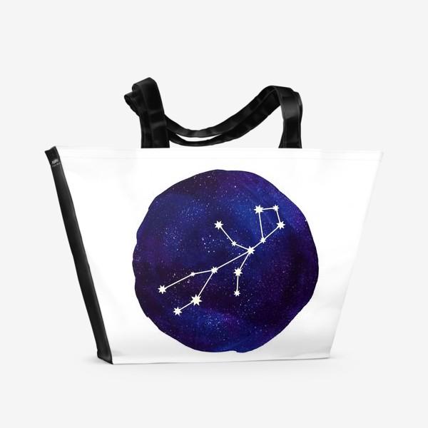 Пляжная сумка «Космос. Дева»