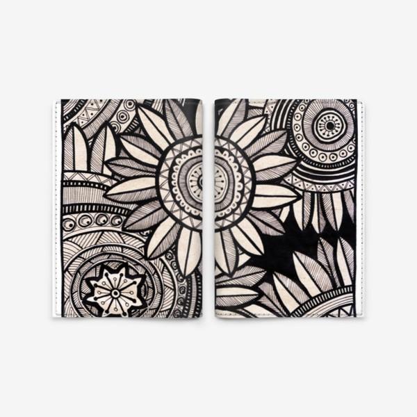Обложка для паспорта «Этнические подсолнухи»