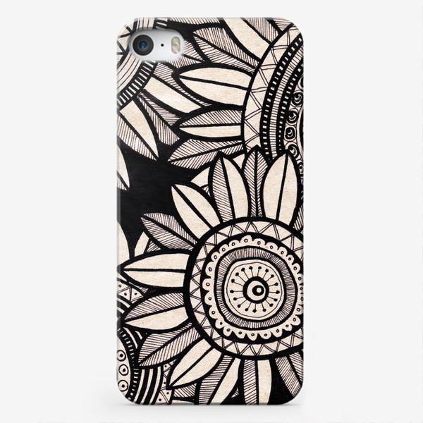 Чехол iPhone «Этнические подсолнухи»