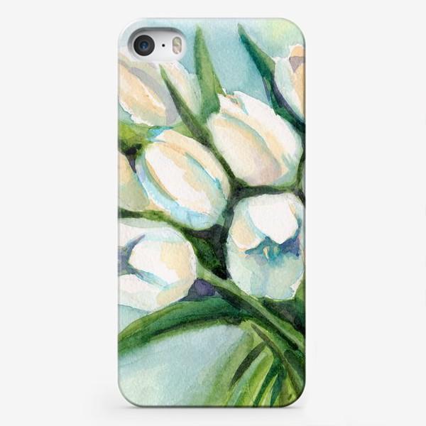 Чехол iPhone «Белые тюльпаны»