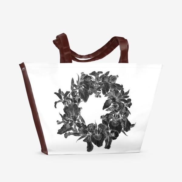 Пляжная сумка «Черные ирисы»