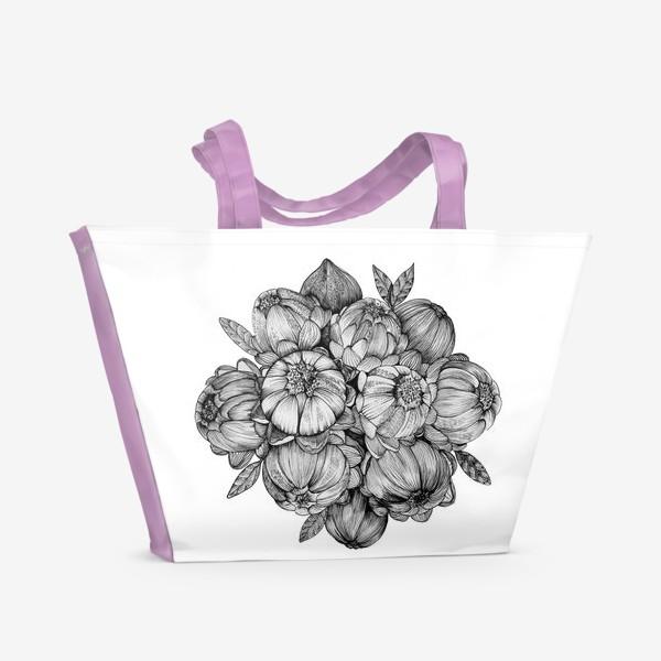 Пляжная сумка «Неведомые цветы»