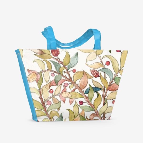 Пляжная сумка «Декоративный узор из веток»