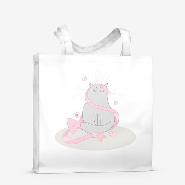 Сумка-шоппер «Кот Дева Подарок для знака зодиака Дева »