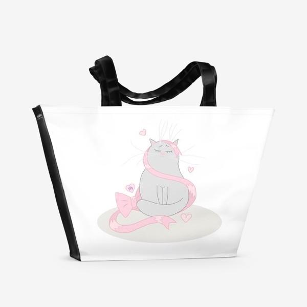 Пляжная сумка «Кот Дева Подарок для знака зодиака Дева »