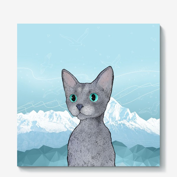 Холст «Кот Клаус»
