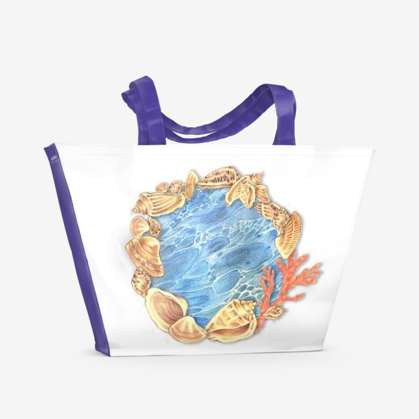 Пляжная сумка «Ожерелье из ракушек»