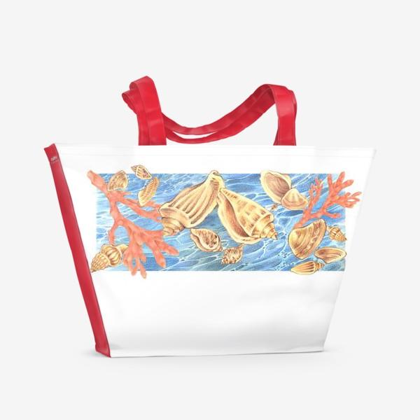 Пляжная сумка «Ракушки и море»