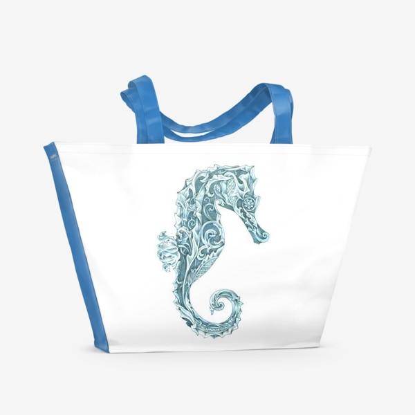 Пляжная сумка «Морской конёк стилизованный»