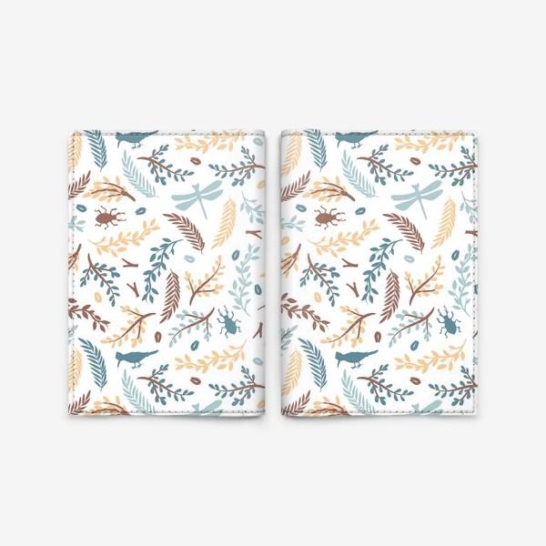 Обложка для паспорта «Пастельный лес»