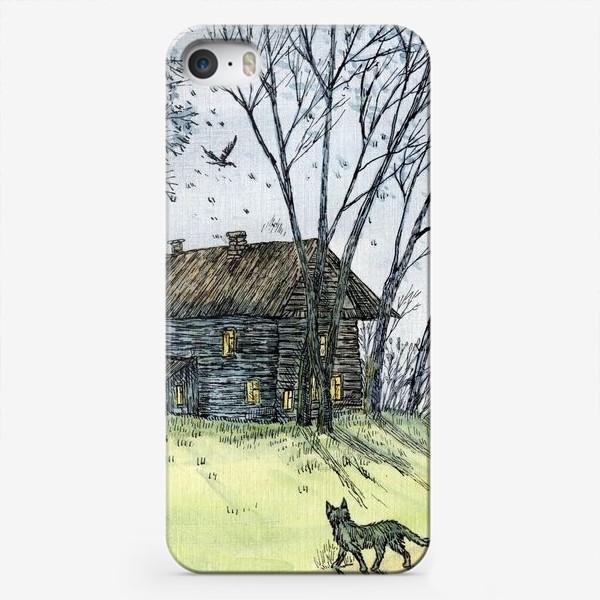 Чехол iPhone «Осень в деревне»