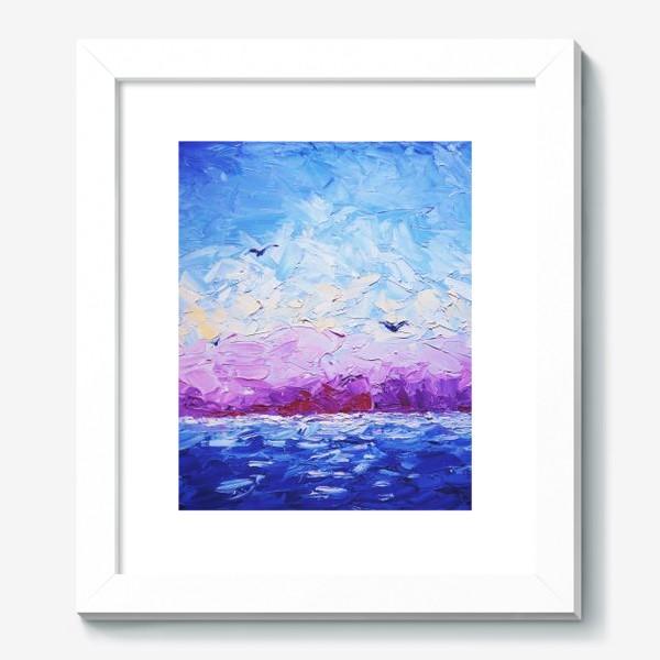 Картина «Рассвет на море. Картина маслом»