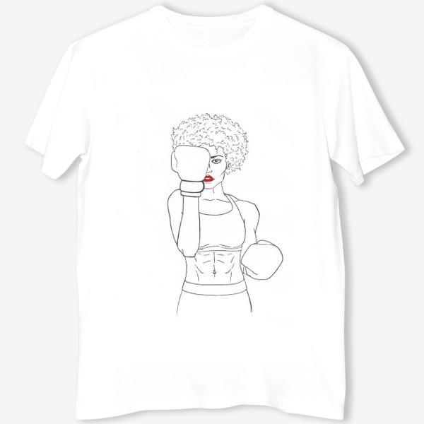Футболка «Девушка боксёр »