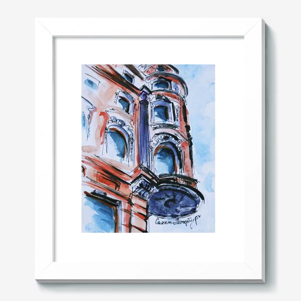Картина «Питер, дом на углу улицы»