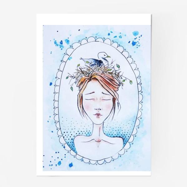 Постер «Девушка с чайкой»