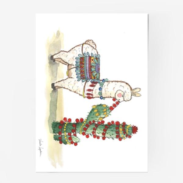 Постер «Лама и Кактус»
