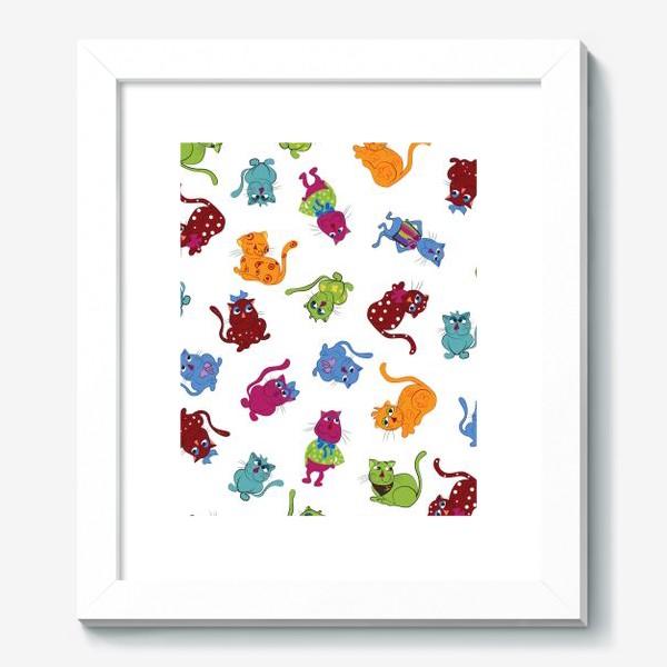 Картина «Разноцветные коты»