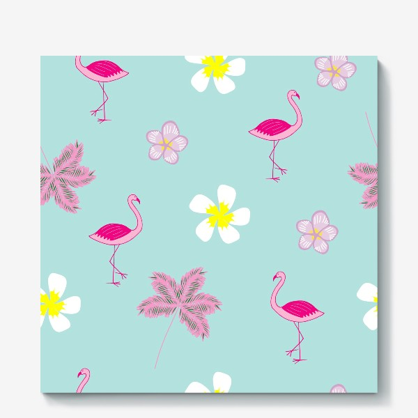 Холст «flamingos»