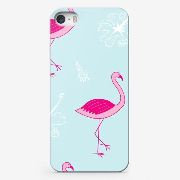 Чехол iPhone «flamingos»
