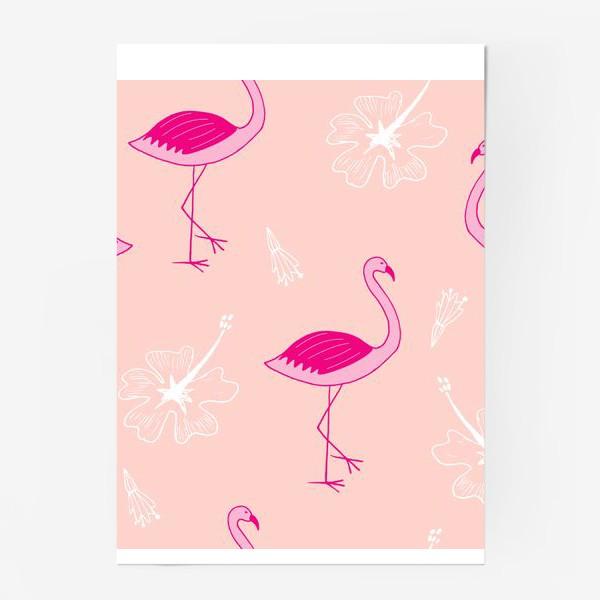 Постер «flamingos»