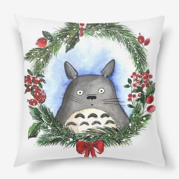 Подушка «Новогодний Тоторо»