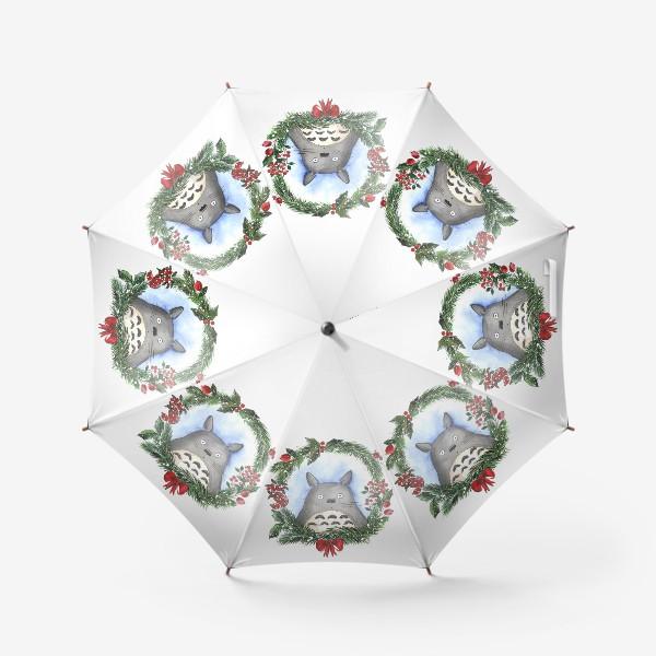 Зонт «Новогодний Тоторо»