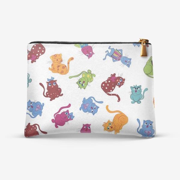 Косметичка «Разноцветные коты»