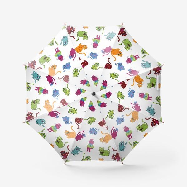 Зонт «Разноцветные коты»