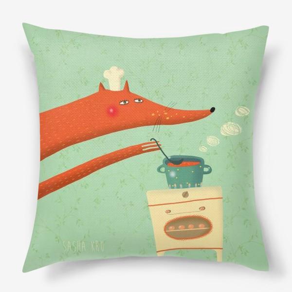 Подушка «Поварёнок лис»