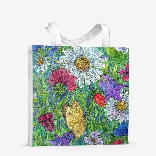 Сумка-шоппер «Полевые цветы и ягоды»