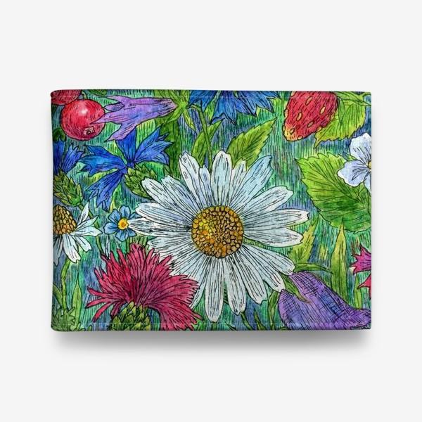 Кошелек «Полевые цветы и ягоды»