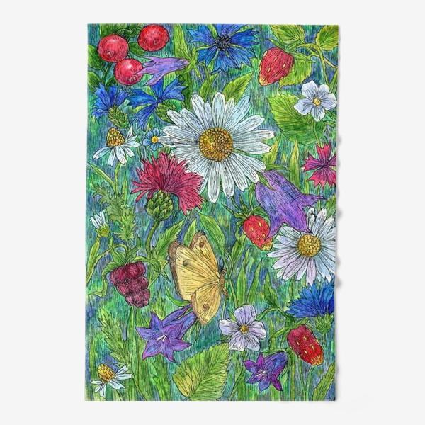 Полотенце «Полевые цветы и ягоды»