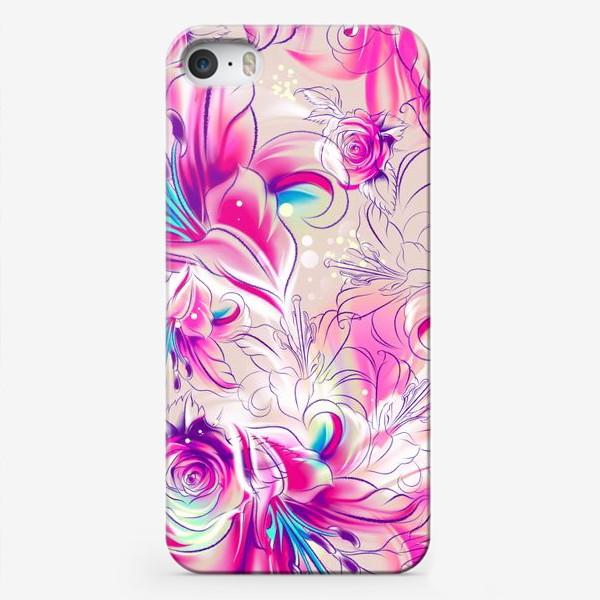 Чехол iPhone «Бесшовный паттерн с лилиями»