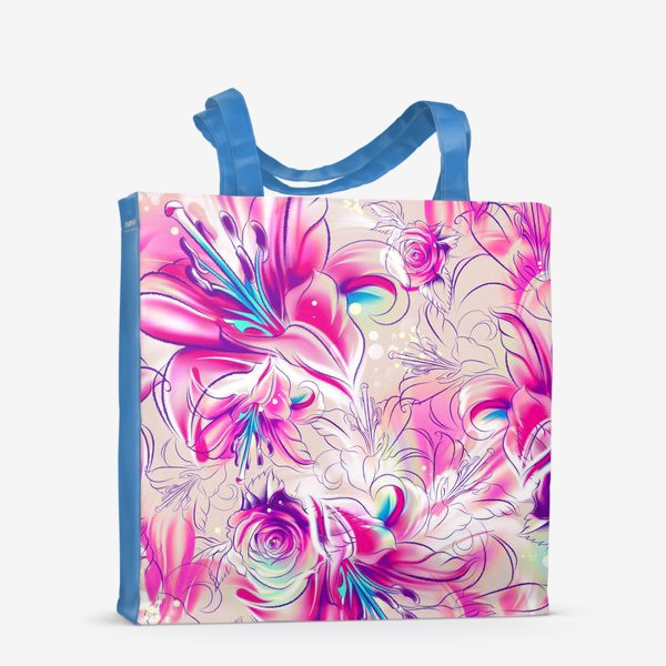 Сумка-шоппер «Бесшовный паттерн с лилиями»