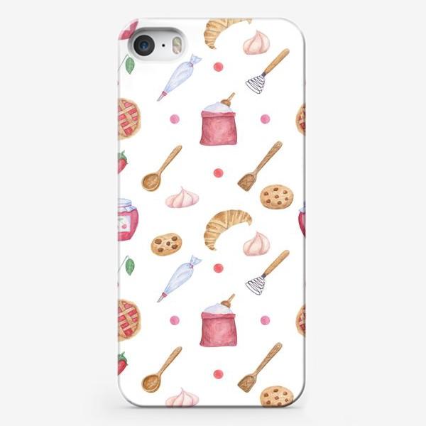 Чехол iPhone «Выпечка, сладости, ягоды»