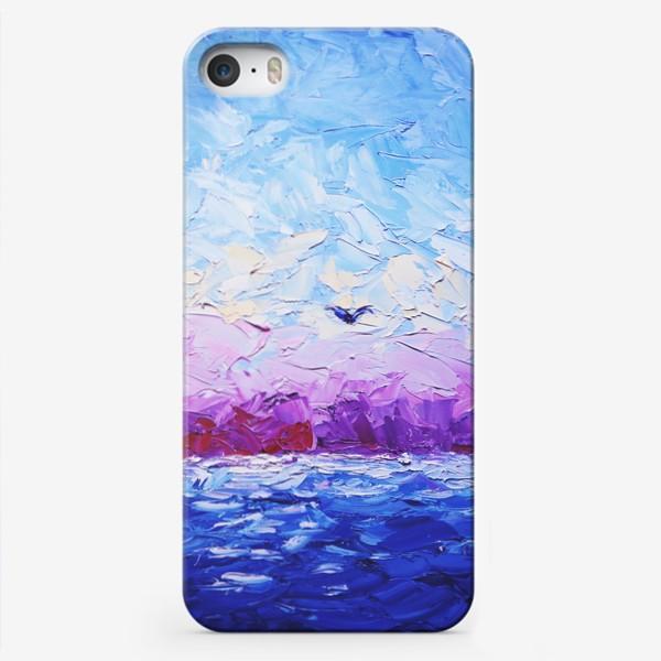 Чехол iPhone «Рассвет на море. Картина маслом»