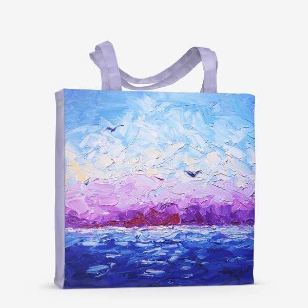 Сумка-шоппер «Рассвет на море. Картина маслом»