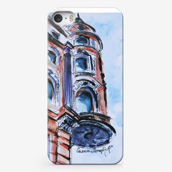 Чехол iPhone «Питер, дом на углу улицы»
