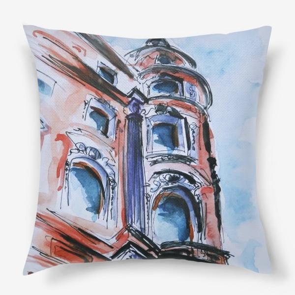 Подушка «Питер, дом на углу улицы»