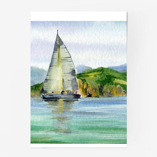 Постер «Парусник в море»