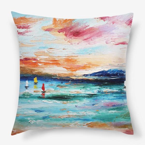 Подушка «Лазурное море»