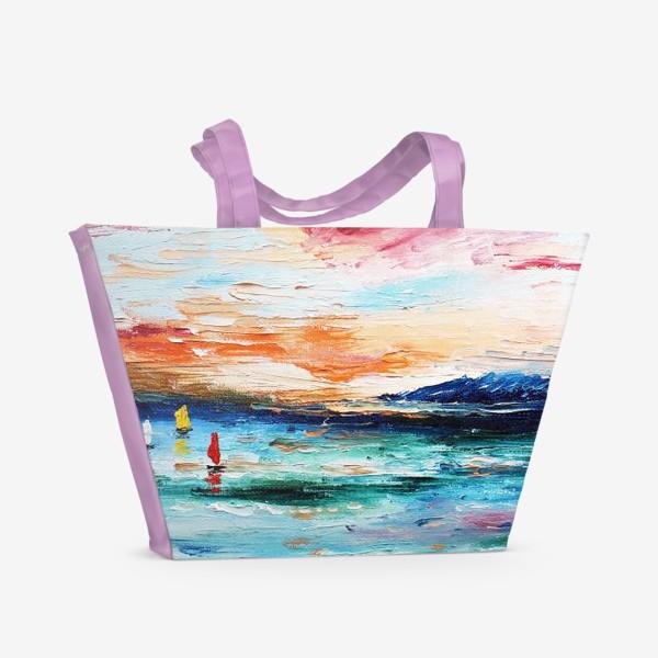 Пляжная сумка «Лазурное море»