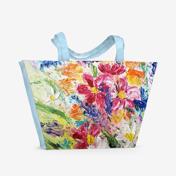 Пляжная сумка «Полевой букет»