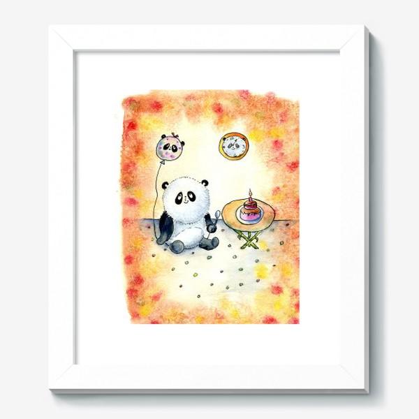 """Картина «Серия """"Счастливые панды"""" панда именинница»"""