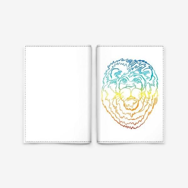 Обложка для паспорта «Лев в цвете»